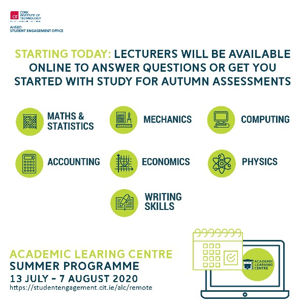 Academic Learning Centre Summer Programme: Supporting you towards success in August assessments
